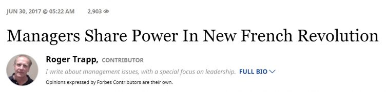 Forbes article on the liberating leadership
