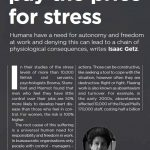 Liberate your employees or pay the price for stress